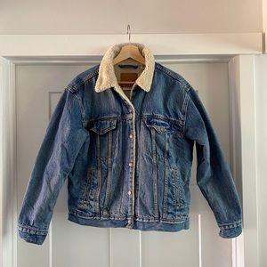 Levi's shearling lined Denim Sherpa jacket
